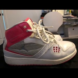 jordan flight basketball pink shoes